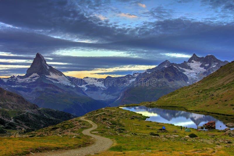 Sunrise at Matterhorn, Switzerland royalty free stock photography