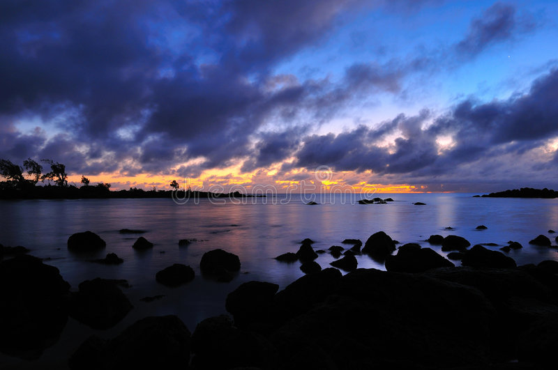 Sunrise at Mauritius stock image