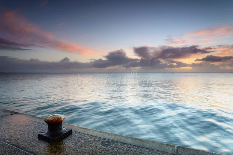 Download Sunrise at Mevagissey stock photo. Image of setting, maritime - 36521764