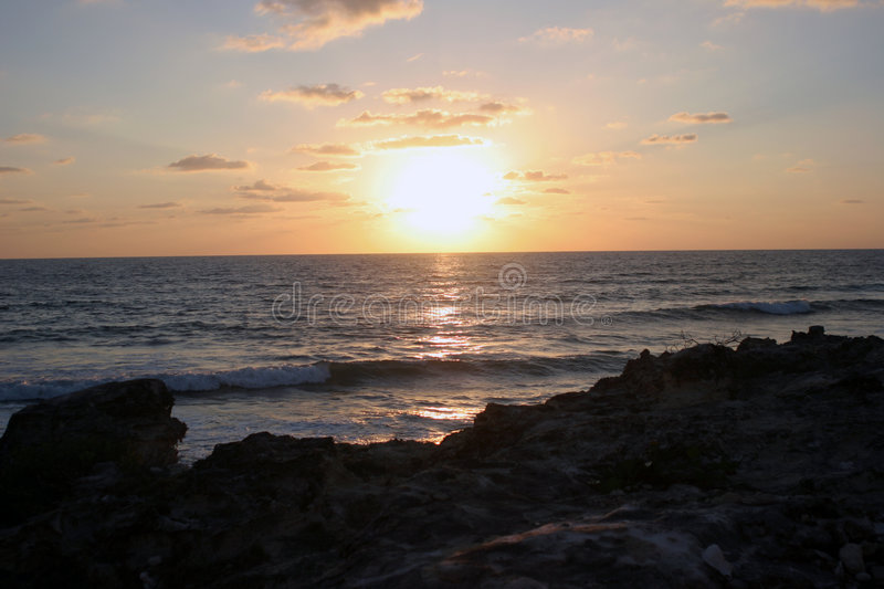 Download Sunrise in Mexico stock image. Image of ocean, water, sunrise - 472945