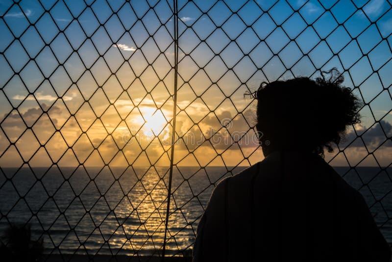 Sunrise miami beach royalty free stock image