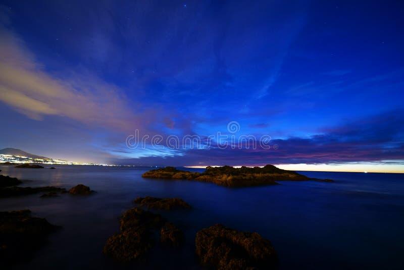 sunrise on Mijas royalty free stock images
