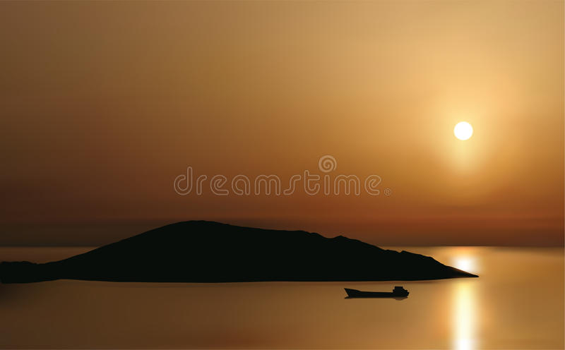 Download Sunrise at Mirabello Bay stock vector. Image of space - 9442817