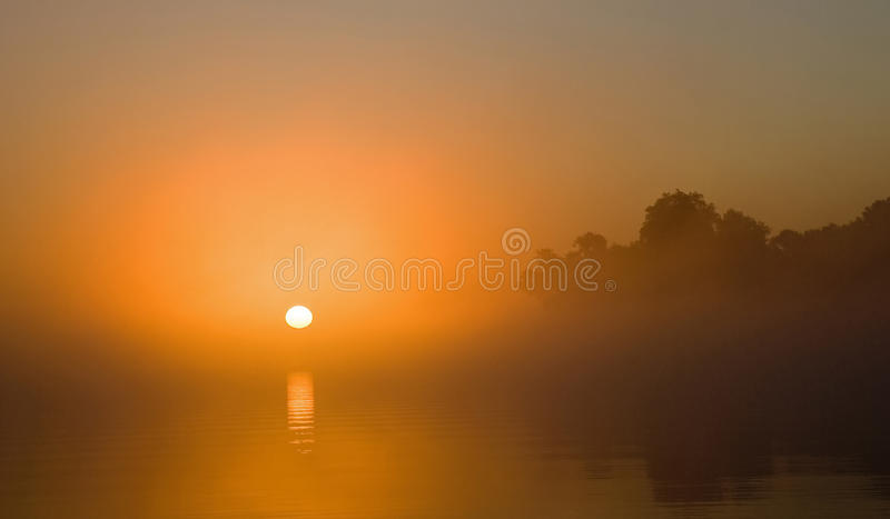 Download Sunrise On Misty River Royalty Free Stock Photos - Image: 16784748