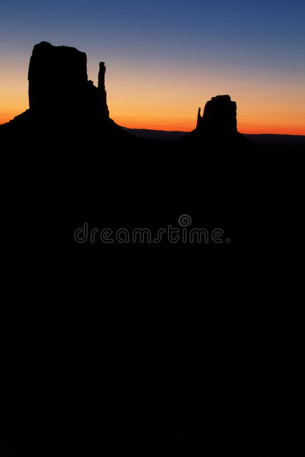 Sunrise At Monument Valley Royalty Free Stock Photography