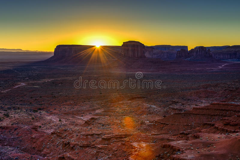 Sunrise at monument valley, navajo nation. Az stock images