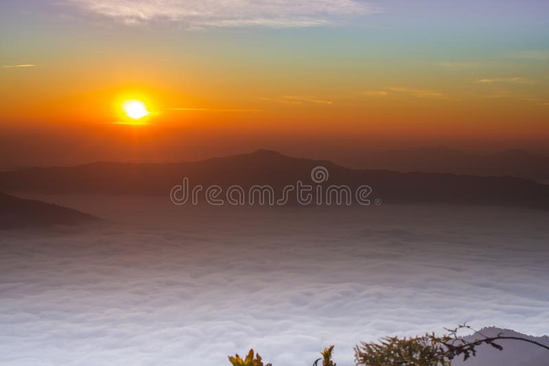 Sunrise in the morning royalty free stock photos