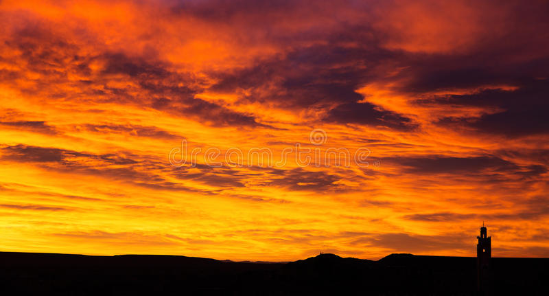 Sunrise in Morocco stock images