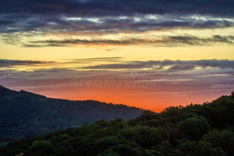 Sunrise Morvan photo stock