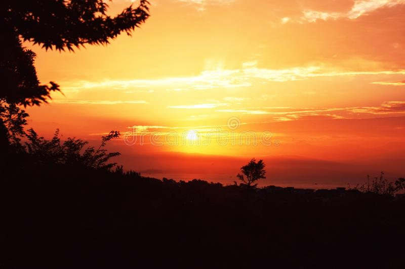 Sunrise. Is the most valuable moment in the day! I think so royalty free stock photo