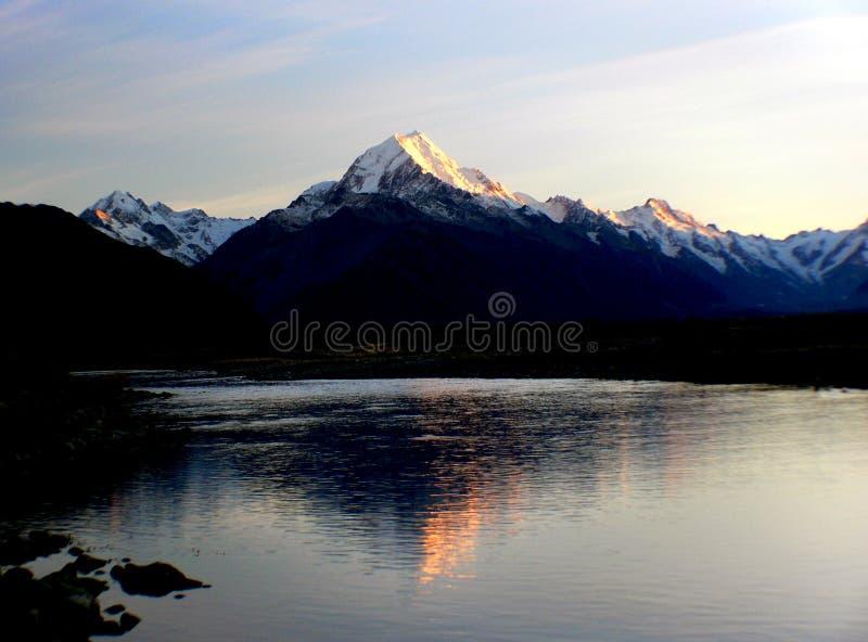 Sunrise Mount Cook stock image