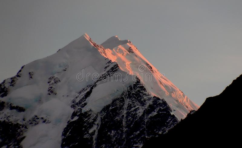 Sunrise Mount Cook royalty free stock photography