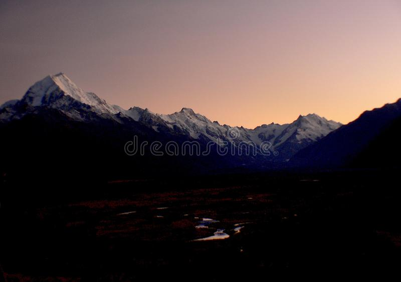 Sunrise Mount Cook (14) stock photo
