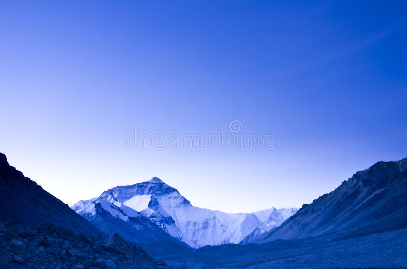 Sunrise at Mount Everest stock images