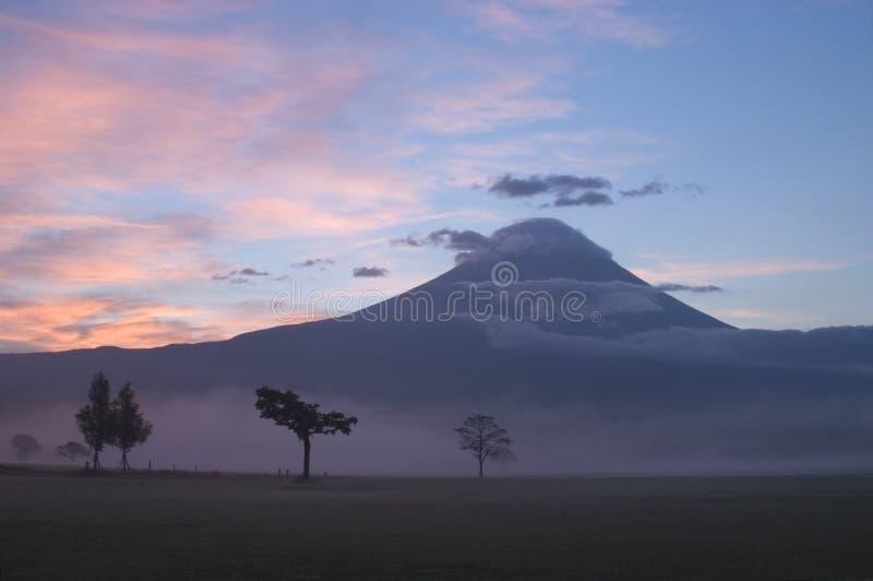 Sunrise on Mount Fuji stock photos