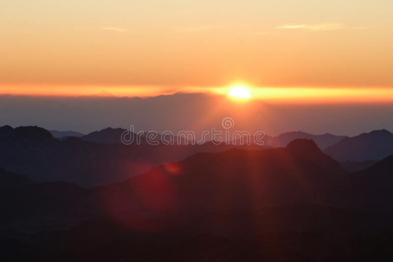 Sunrise on mount Sinai. stock image