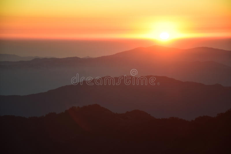 Sunrise Mountain royalty free stock photo