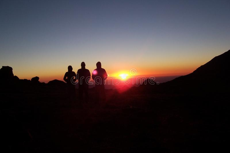 Sunrise in the mountain. royalty free stock image