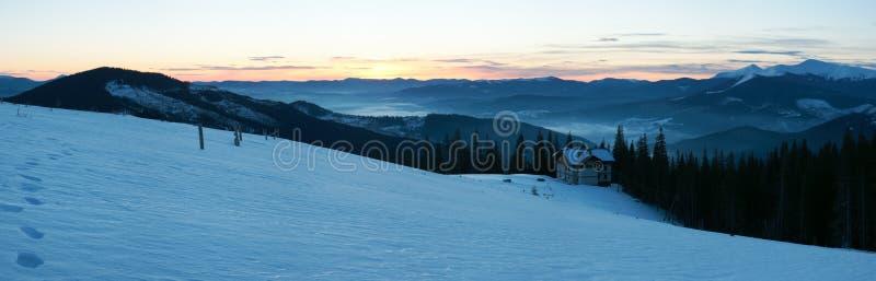 Sunrise Mountain Panorama Stock Photography