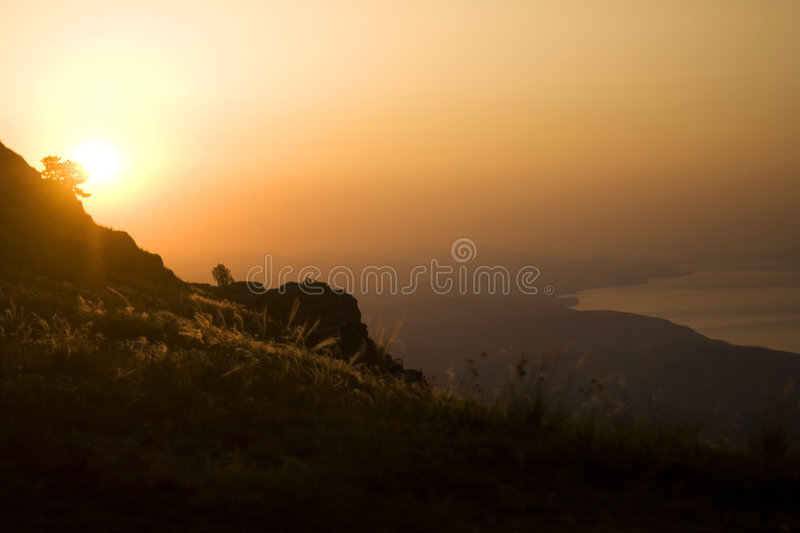 Sunrise in the mountains 2 royalty free stock images