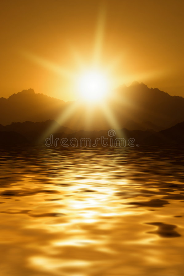 Sunrise In Mountains Royalty Free Stock Photos