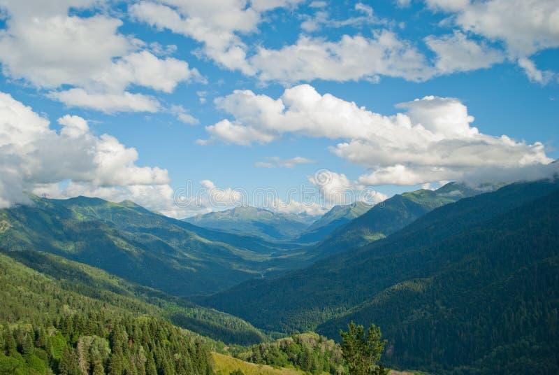 Sunrise mountains stock photo