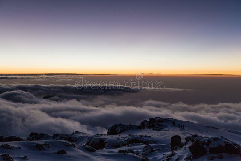 Sunrise on Mt. Kilimanjaro royalty free stock photography