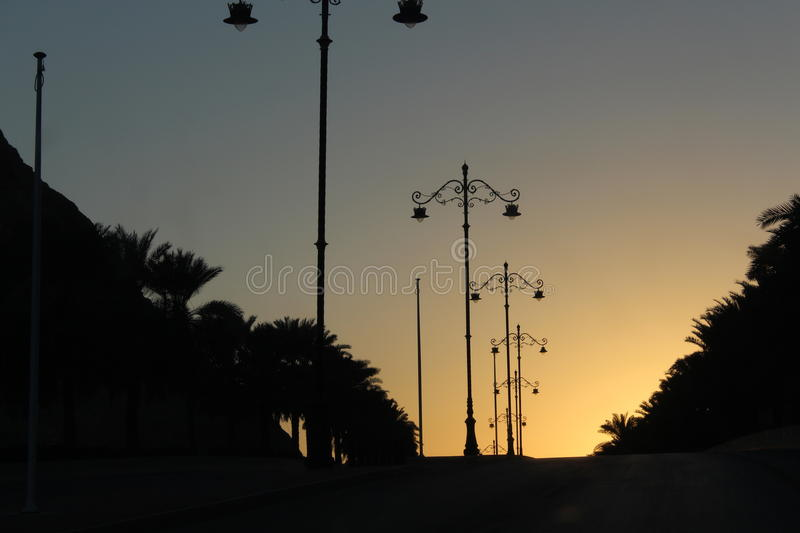 Sunrise at Muscat royalty free stock photos