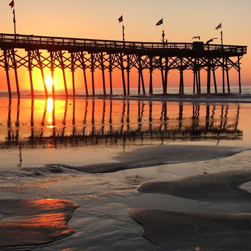 Sunrise at Myrtle Beach stock photos