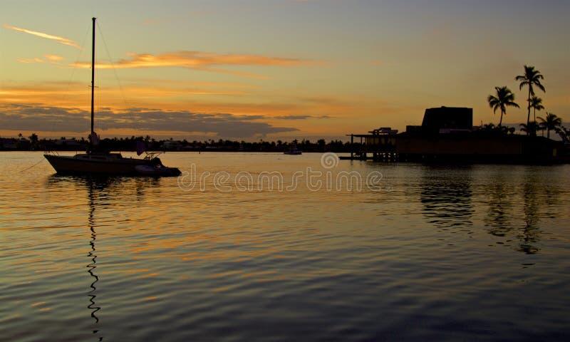 Sunrise on Naples Bay stock photos