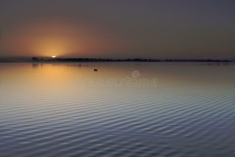 First light at the Neuse River, New Bern, North Carolina royalty free stock photography