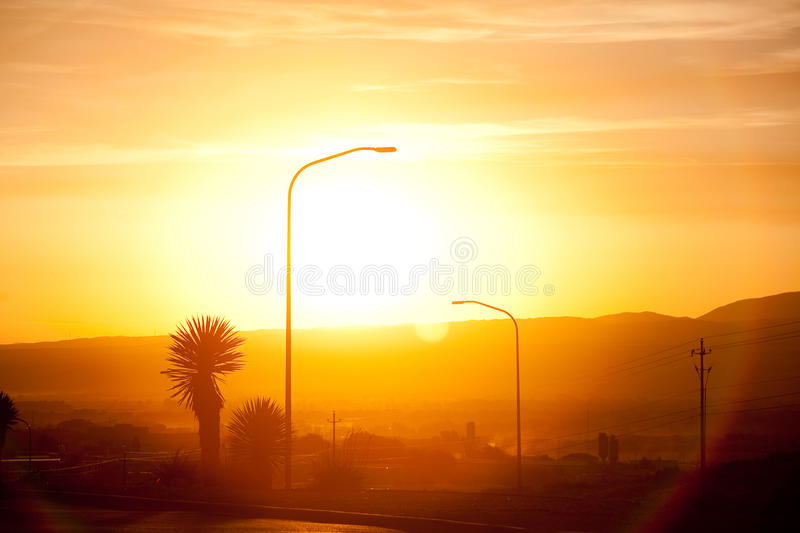 Sunrise in New Mexico royalty free stock photography
