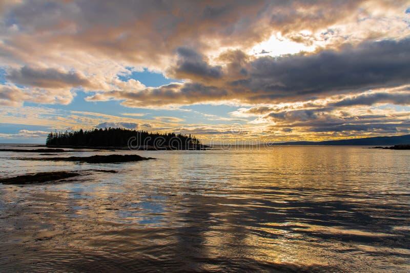 Sunrise no Parque Nacional de Acadia, ME fotos de stock royalty free