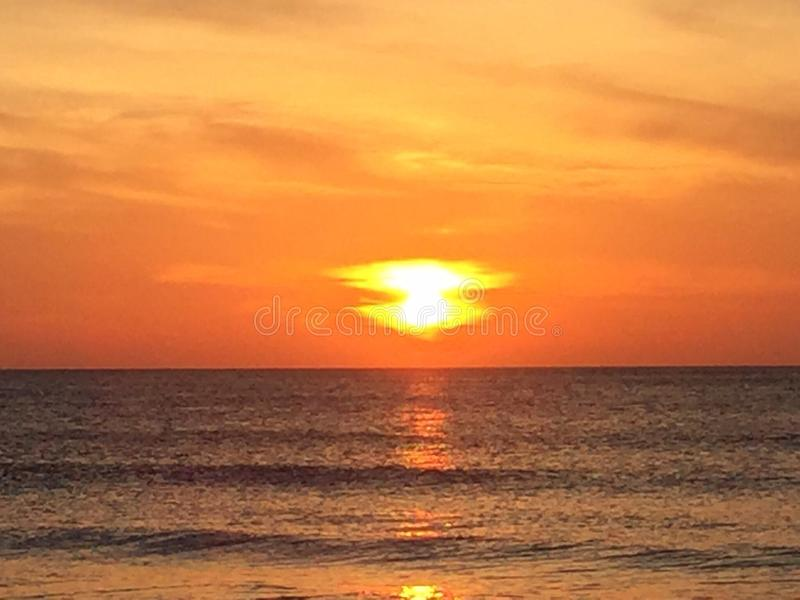 Sunrise in North Carolina orange stock images