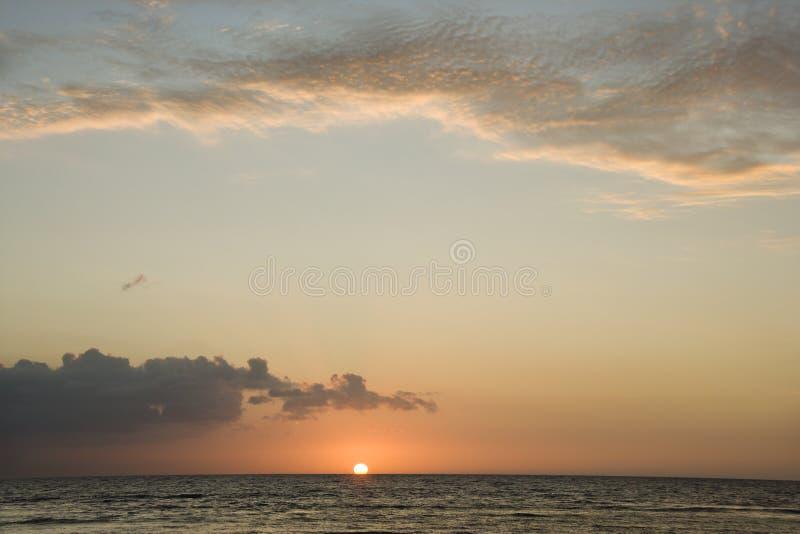 Sunrise on ocean. royalty free stock photos