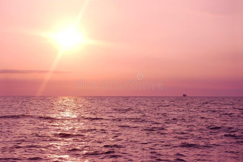 Sunrise ocean stock image