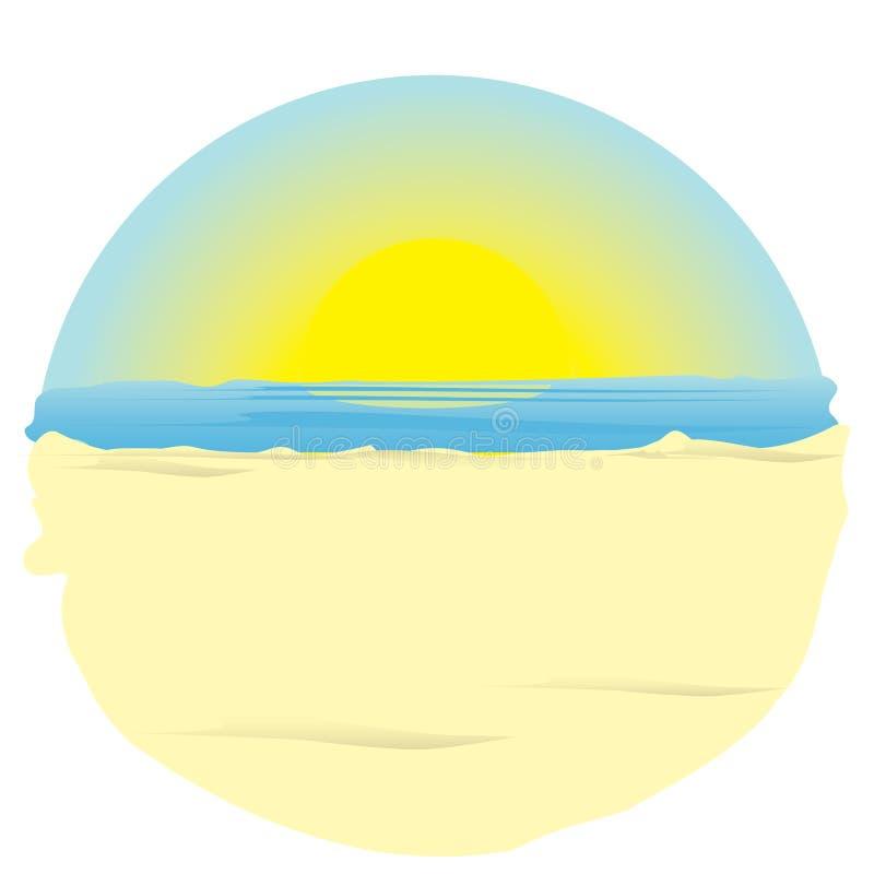 Sunrise on ocean. illustration.
