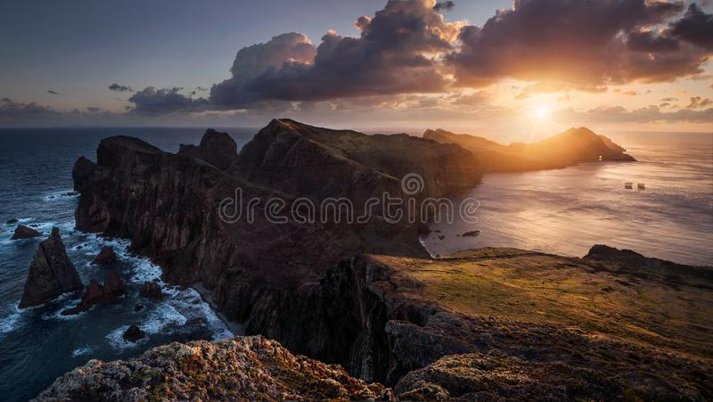 Sunrise at the ocean royalty free stock photos