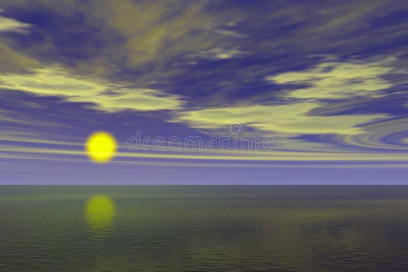 Download Sunrise ocean view stock illustration. Illustration of inspiration - 17585510