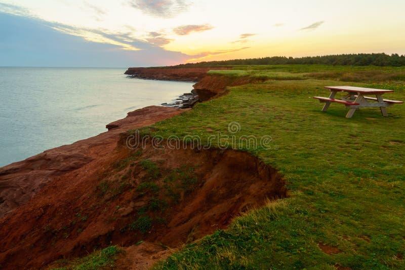 Sunrise in Oceanview, Cavendish, PEI immagine stock libera da diritti