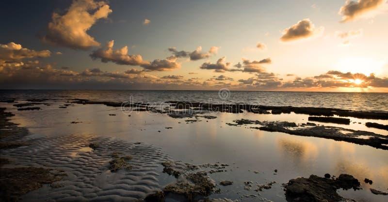 Sunrise off Florida Coast stock photography