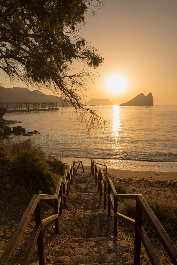 Free Sunrise On A Beach In Aguilas, Murcia Stock Photo - 116209360