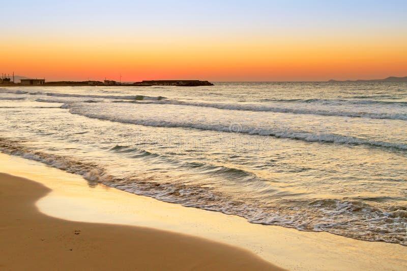 Sunrise over Aegean Sea on Crete