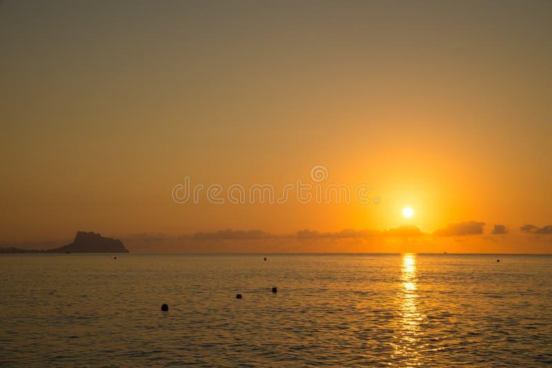 Sunrise over Altea bay royalty free stock photos