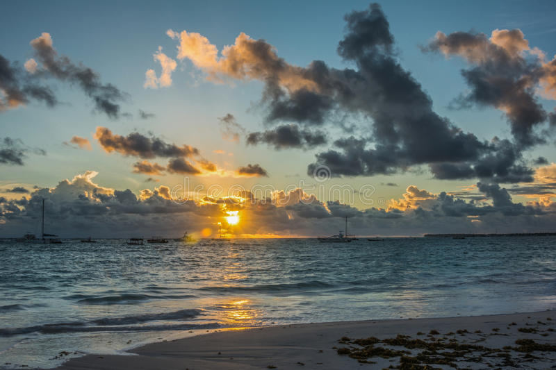 Sunrise over the Atlantic royalty free stock photo