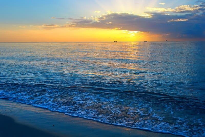 Sunrise Over Atlantic Ocean Royalty Free Stock Images