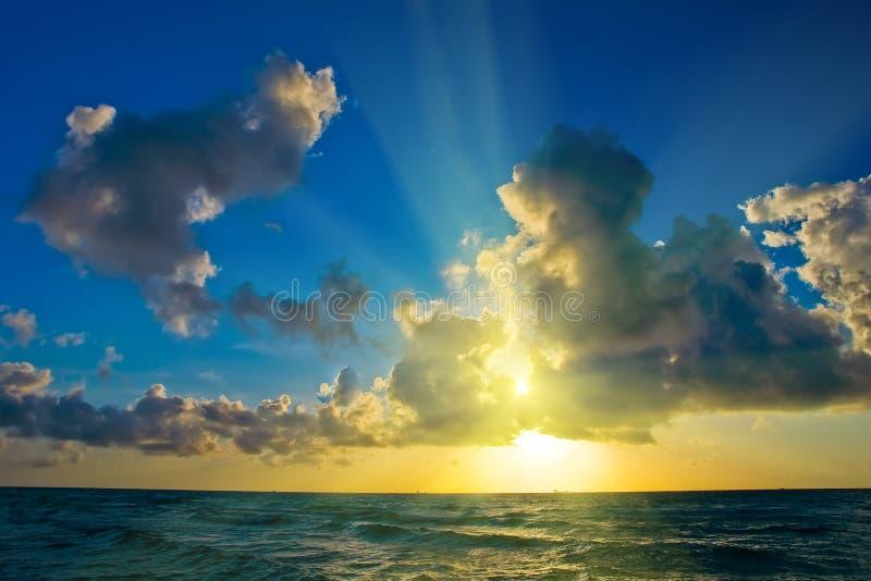Sunrise over Atlantic ocean coast. FL, USA stock photo