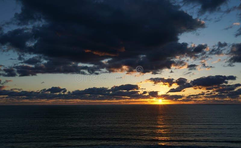 Sunrise over the Atlantic Ocean royalty free stock photos