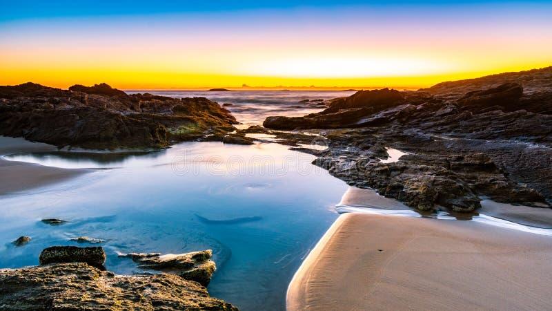 Sunrise over an Australian Beach stock photography