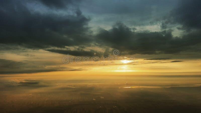 Sunrise over Austria royalty free stock photos